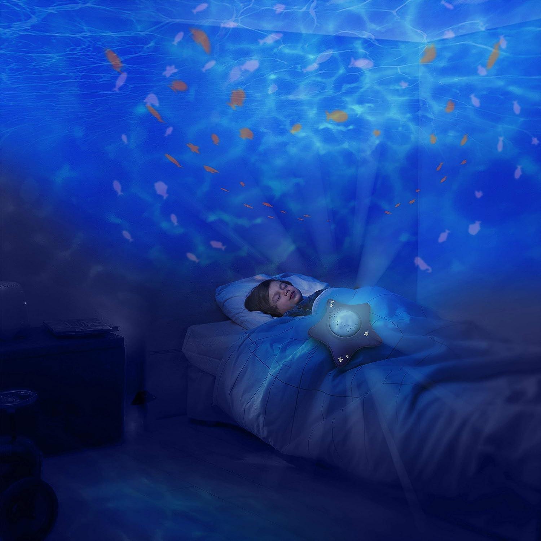 ruhiger Ozean Pabobo Nomadische musikalische Nachtlicht und Aqua dynamischen Projektor f/ür Baby und Kind blau