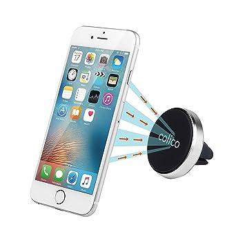 Soporte magnético para el teléfono en el coche de Colico de aluminio, para el orificio