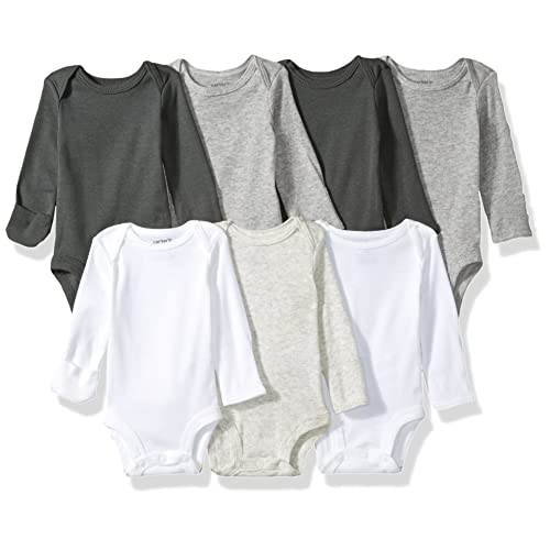 Carters Baby Girls 7-Pack Long-Sleeve Bodysuits