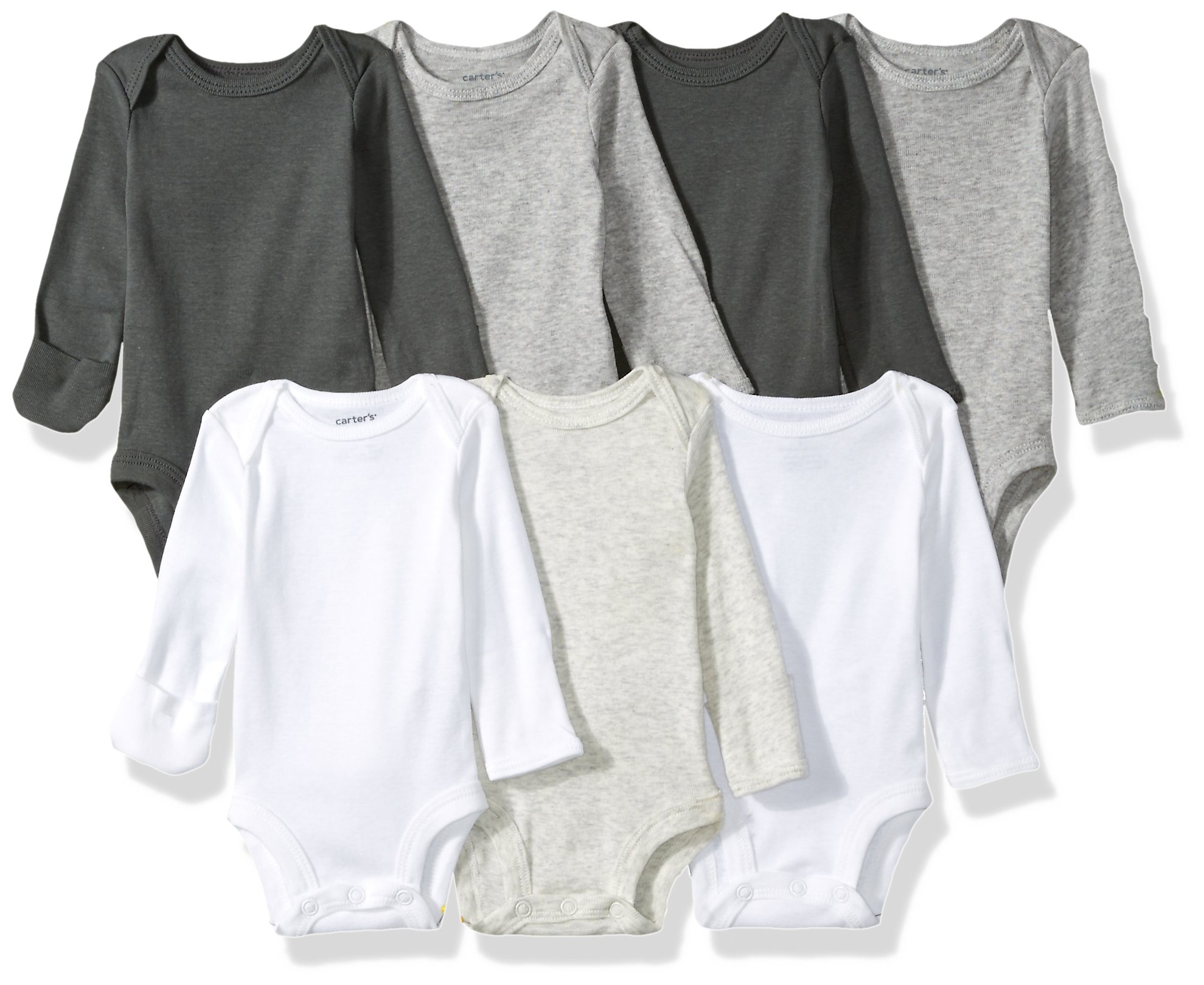 Carter's Baby Girls' 7-Pack Long-Sleeve Bodysuits 1