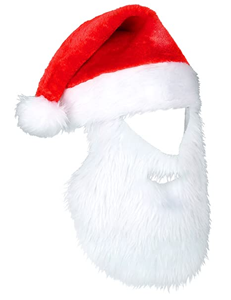 Cappello Babbo Natale con barba  Amazon.it  Giochi e giocattoli 569dbff7c94e