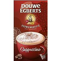 Douwe Egberts Oploskoffie Verwenkoffie Cappuccino (20 Sachets, Instant Koffie), 10 x 10 Zakjes