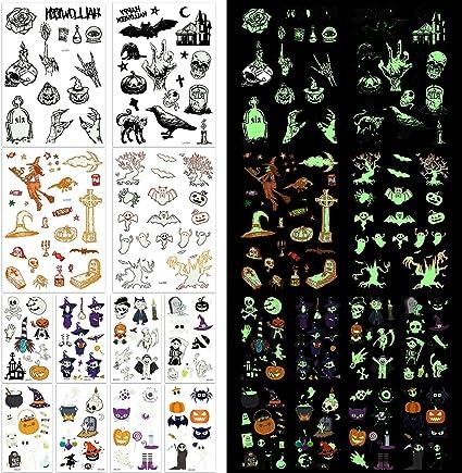 165× Halloween Luminoso Tatuajes Temporales para Niños, mexicano ...