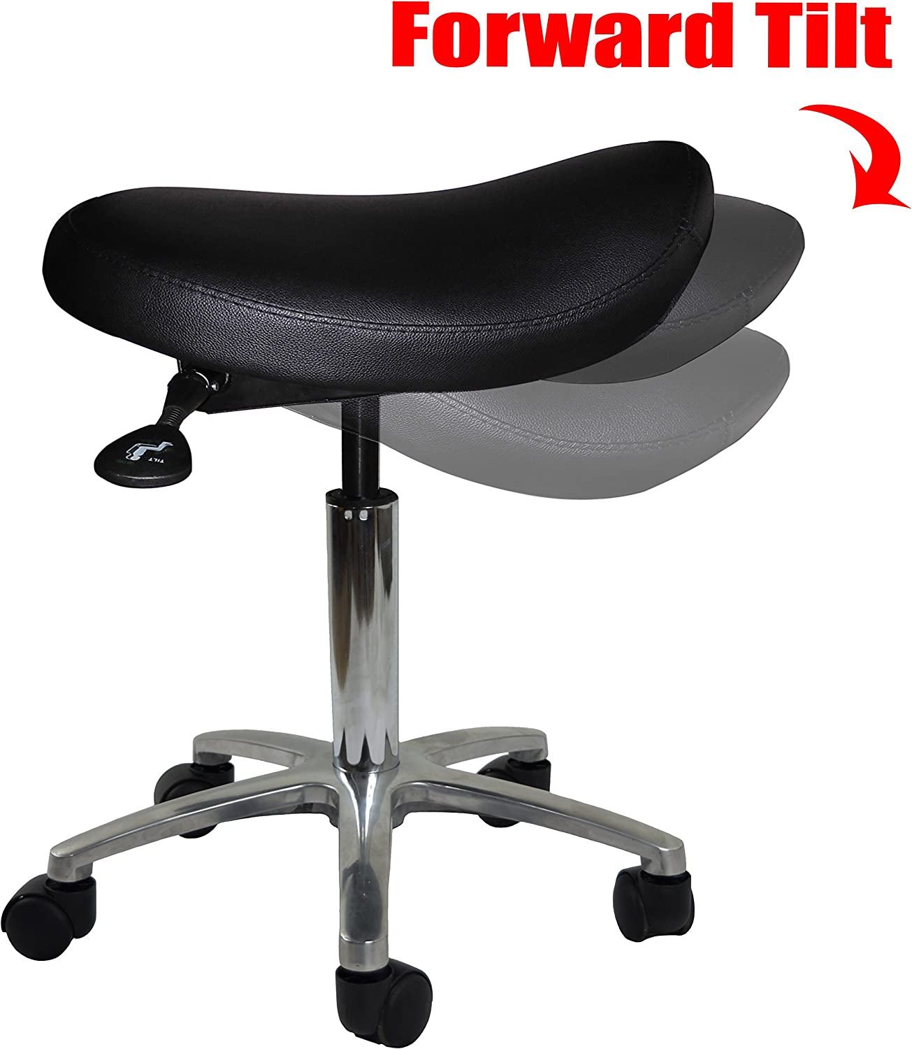 Backless Beige Adjustable Saddle Stool Chair for Clinic Hospital Pharmacy Medical Beauty Lab Exam Office Technician Physical Occupational Therapy Physician 2xhome