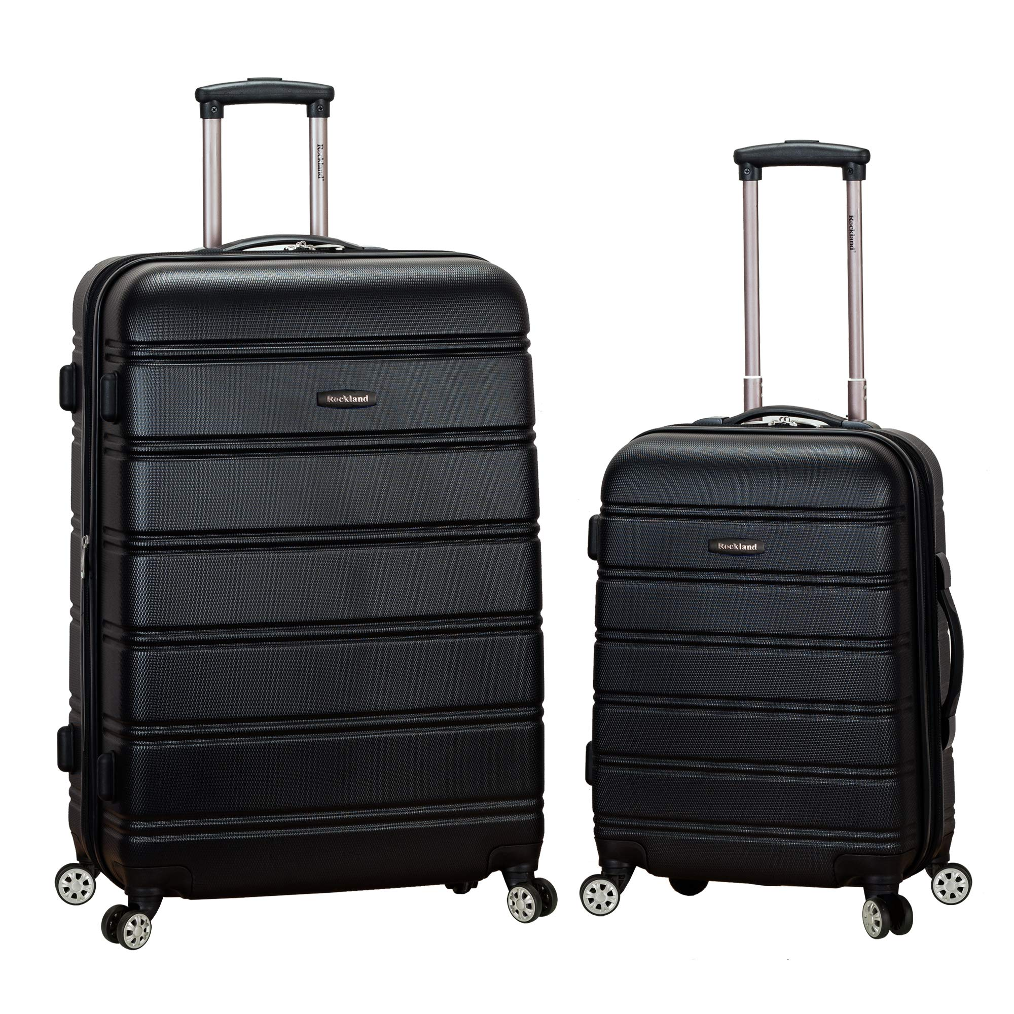 Rockland Luggage 20 Inch and 28 Inch 2 Piece Expandable Spinner Set, Black, One Size by Rockland