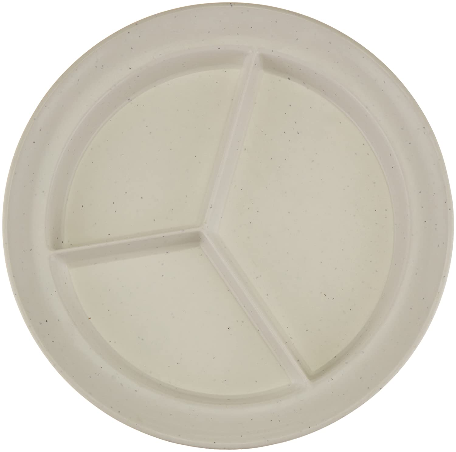 "Sammons Preston Compartment Dishes, Break-Resistant Polyester Plastic with Non-Skid Bottom, 8.75"" Diameter, .75"" High Sides & .75"" Rim for Easy Scooping, Adaptive Eating Tool & Food Organizer"