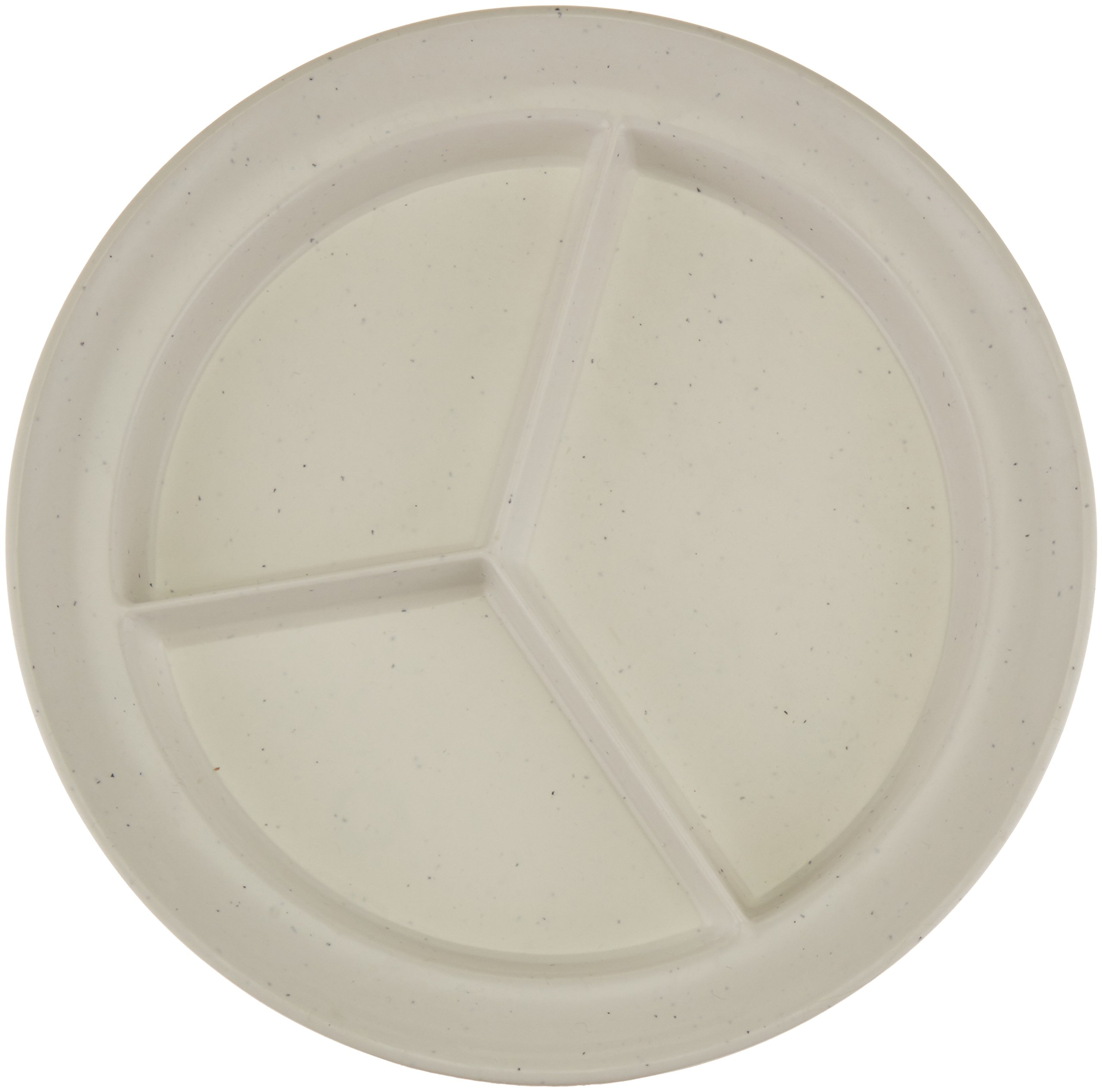 Sammons Preston Compartment Dish, Light Grey Fleck, Durable Polyester Dishes Separate Food Into 3 Sections, 8.75'' Diameter.75'' High Sides & .75'' Rim for Scooping, Nonskid Base, Adaptive Dining Aid