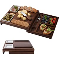 """Wooden Serving Board for Cheese, Food Serving Platter, Cheese Board with Cutlery Set (13,88"""" x 19,88"""") Expandable Cheese…"""