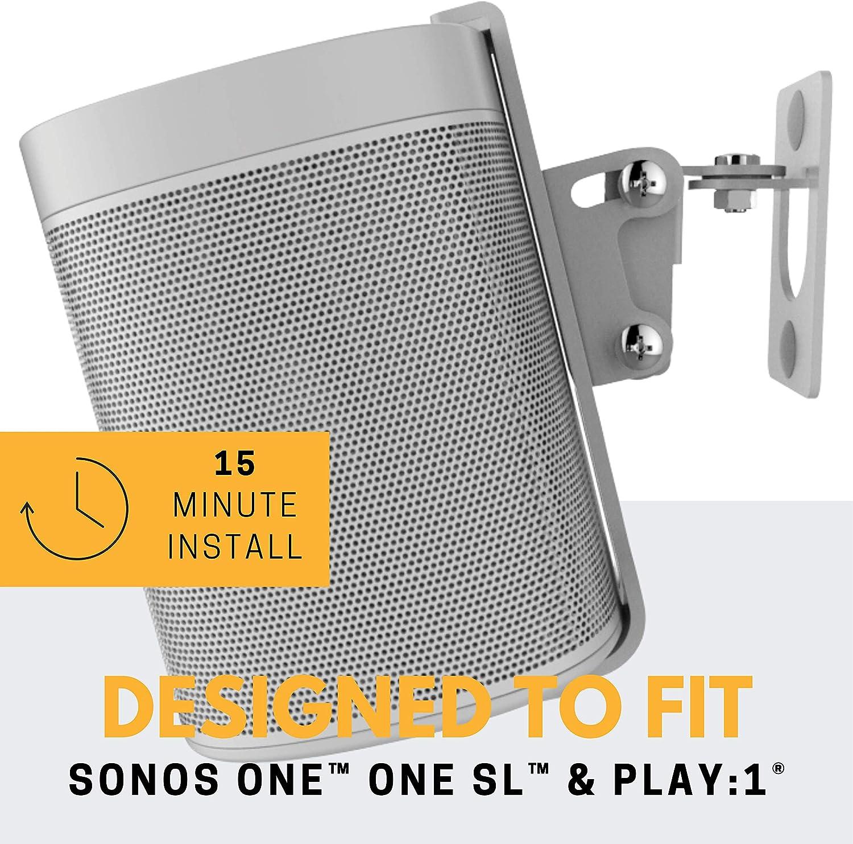One SL /& Play:1 Soporte de Montaje en Pared One Paquete Doble Compatible con los Altavoces One /& PLAY1 de Sonos Negro