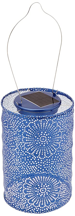 Allsop Home And Garden Soji Stella LED Outdoor Solar Lantern, Handmade With  Weather Resistant