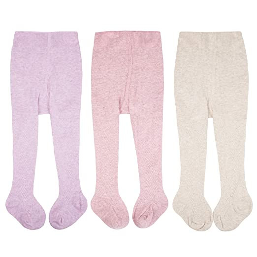 78034bacedeb0 CozyWay Baby Tights Toddler Seamless Leggings Pantyhose Baby Girls Cable  Knit Cotton Pants Stockings 3Pack (