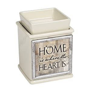 Elanze Designs Home Where The Heart is Ceramic Powder Sand Interchangeable Photo Frame Candle Wax Oil Warmer