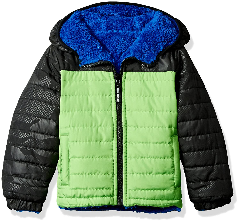 London Fog Toddler Boys Green Midweight Jacket L2178r61 Outerwear 4T green