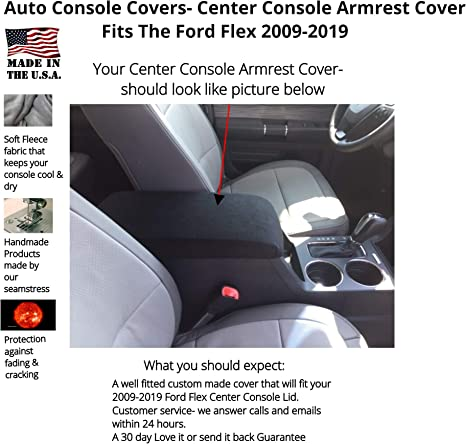 Ford Focus 2008 Fleece Center Armrest Console Lid Cover will Protect New or Restore Worn Out Consoles D3