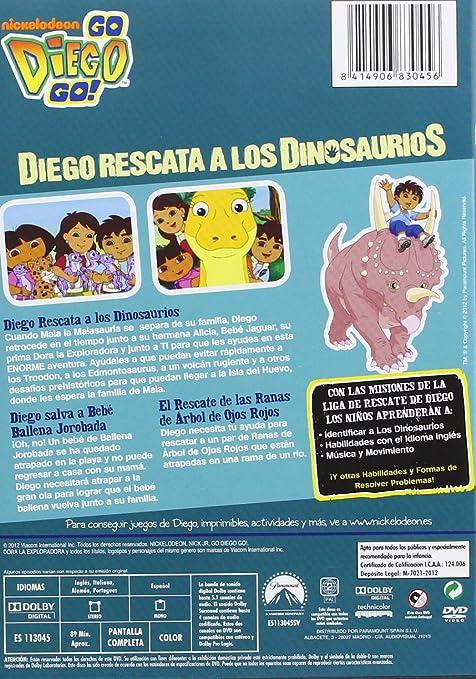 Diego: Diego Rescata A Los Dinosaurios [DVD]: Amazon.es: Personajes Animados: Cine y Series TV