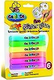 Carioca - Blister con 6 piezas, glitter glue fluo (A77100011)