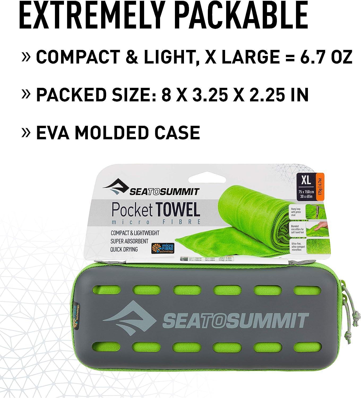 Regular//40 x 80 cm Sea to Summit Pocket Towel-Eucalyptus Green