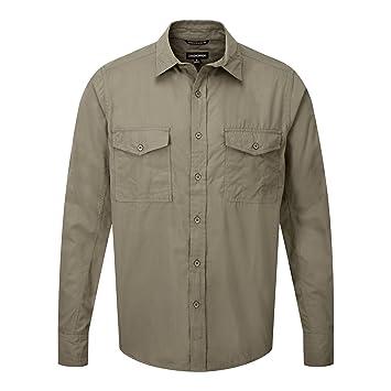 Craghoppers Outdoor Klassik Herren Kiwi Langarm Hemd (3XL) (Kiesel)