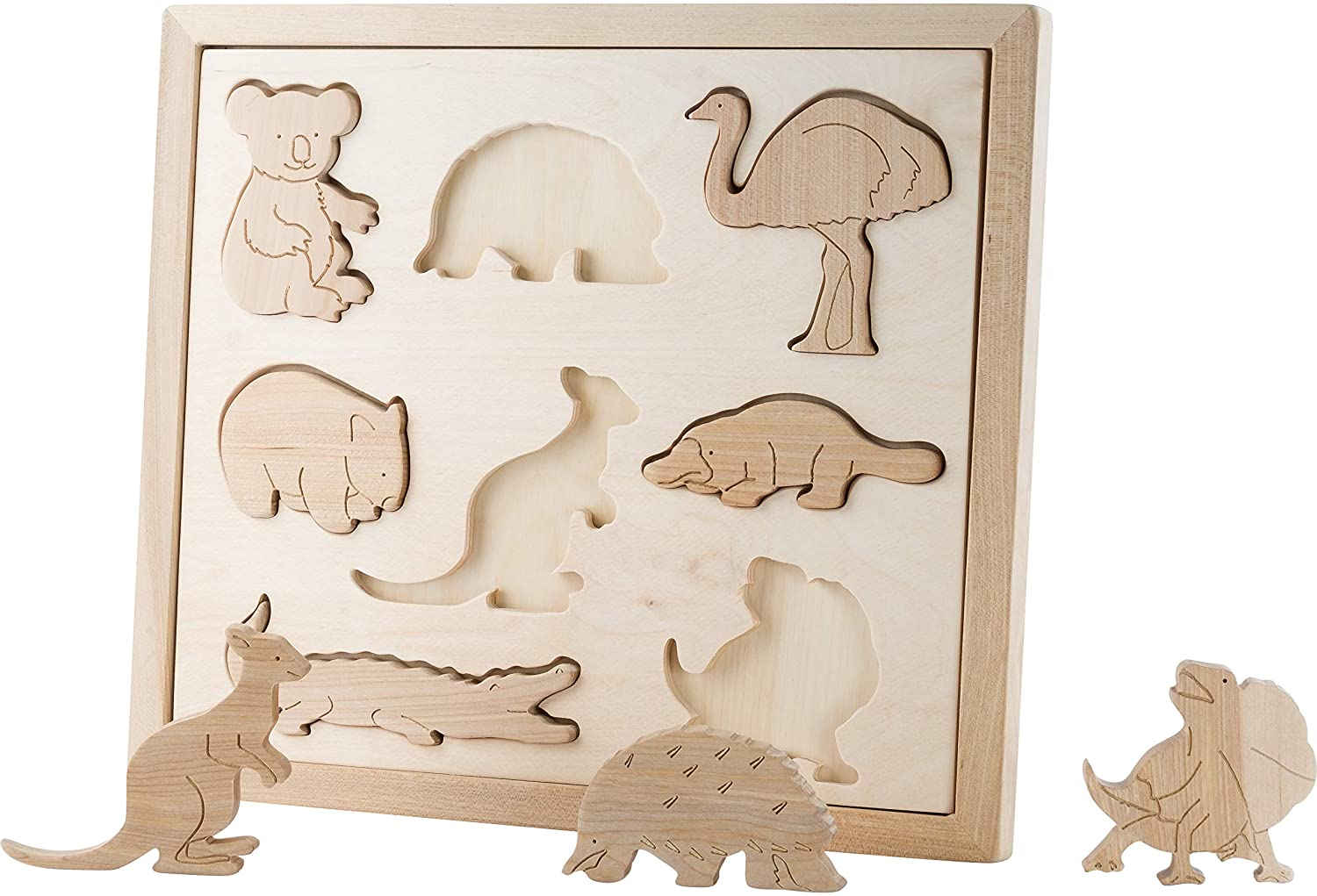 Animals Australia. The World Around Us Series.Wooden Toys Wooden Puzzle Set KubiDubi KUBI Dubi Smart Toys Wood Toys