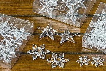 B B 72 Stuck Kristalle Sterne Schneeflocken 3 Pack Diamanten Acryl