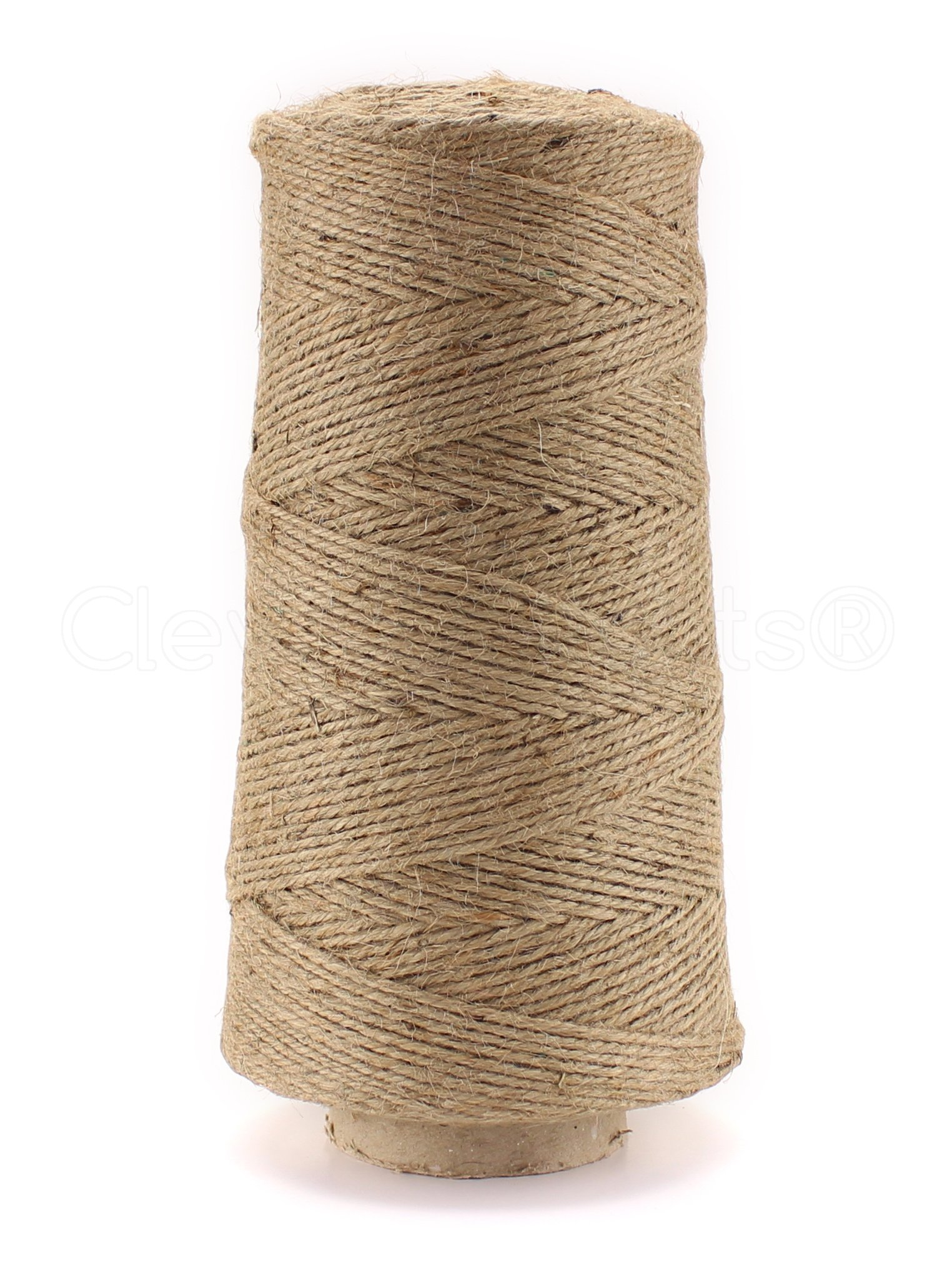 CleverDelights 1000 Foot Jute Twine - 3 Ply - Heavy Duty - Eco-Friendly Jute String Rope Roll - 1000'
