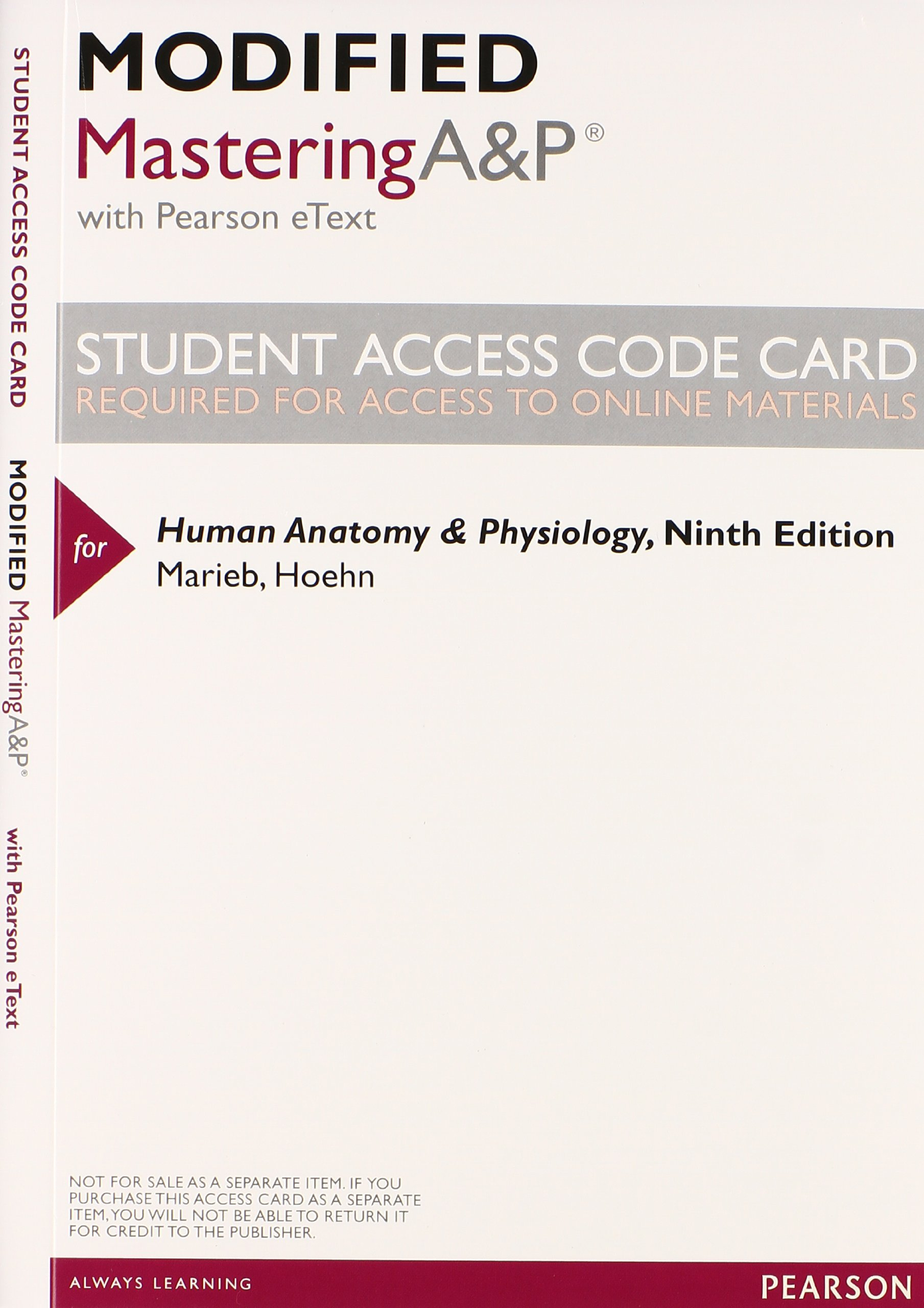 Human Anatomy & Physiology with Modified Mastering A&P with Pearson ...