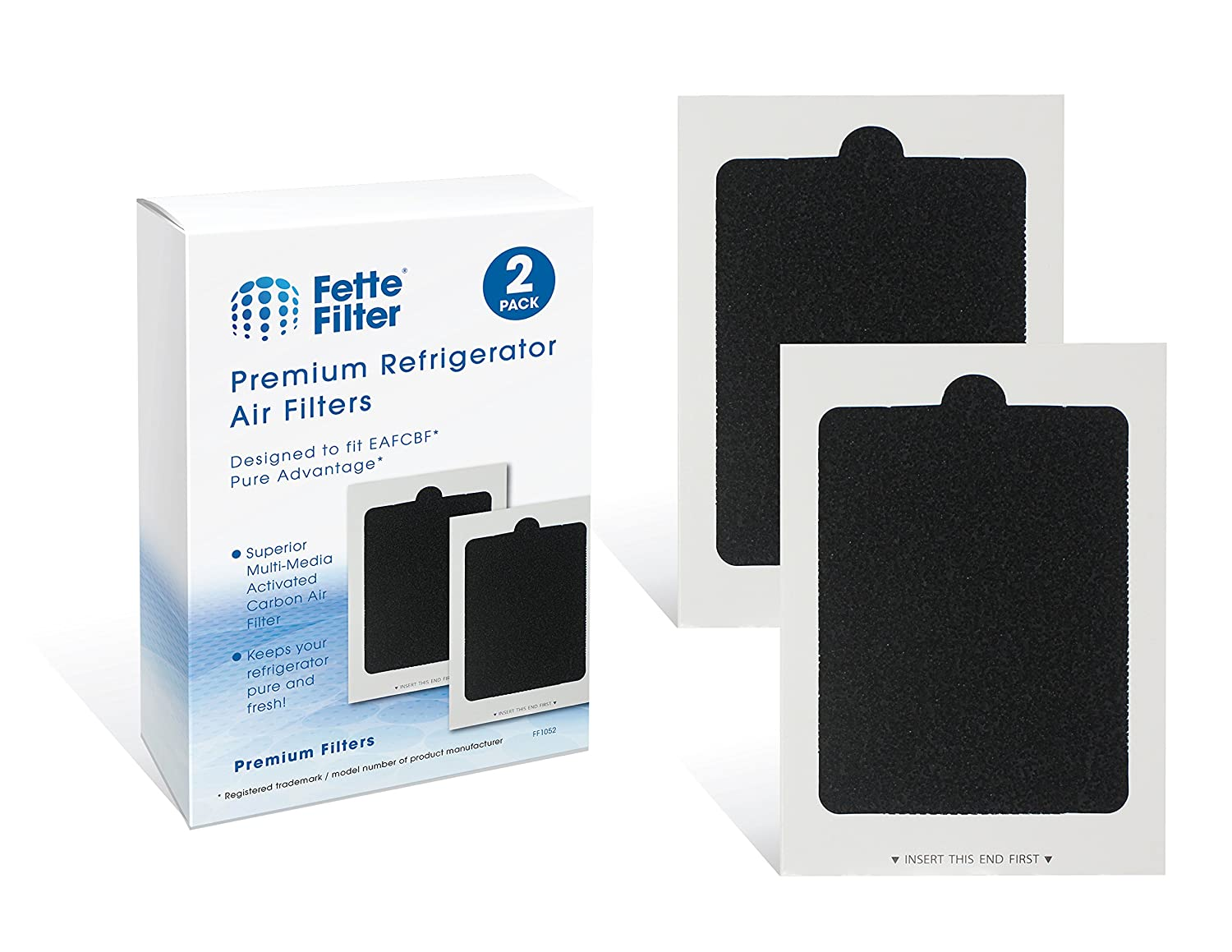 Fette Filter - Refrigerator Air Filters Compatible with Part # EAFCBF Air Filter (2-Pack)