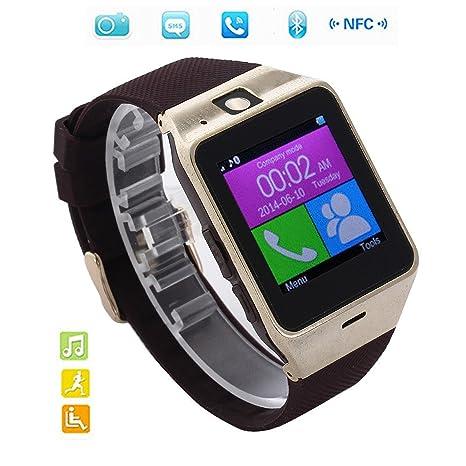 Corelink Smartwatch Reloj NFC Smartphone Libre 2G SIM (Cš¢mara, Bluetooth, Sincronizar Llamada, Anti-pšŠrdida) para Android IOS: Amazon.es: Electrónica