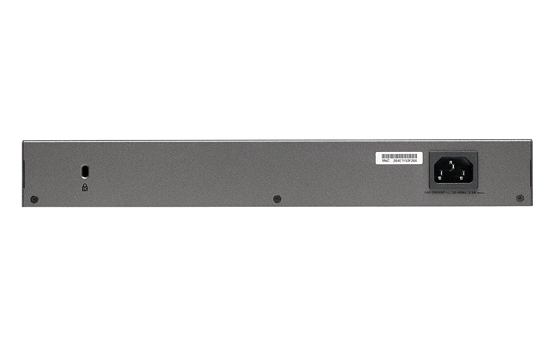 NETGEAR GS728TPv2 24-Port 190 W Gigabit PoE Ethernet Smart Managed Pro Switch with 4 SFP Ports