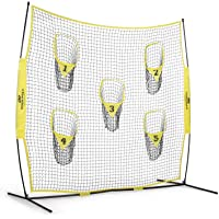 PodiuMax Portable Football Trainer Throwing Net, 8ft x 8ft Knotless Net for Improving QB Throwing Accuracy with 5 Target…