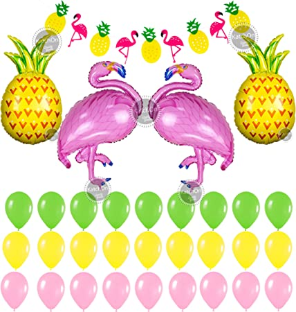 """8 x Pineapple Friends 9/"""" Paper Plates Girls Party Tableware Supplies Adults"""