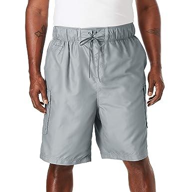 5f287dd4fc KingSize Men's Big & Tall Double Stripe Board Shorts