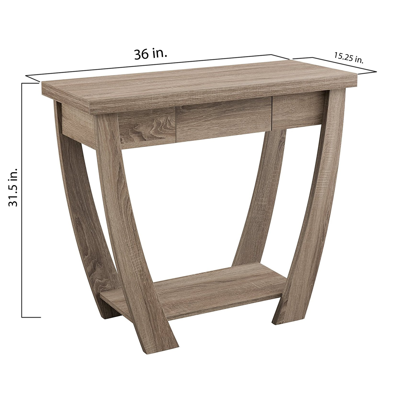 ioHOMES Bond 1 Drawer Console/Sofa Table, Light Oak by HOMES: Inside + Out (Image #4)