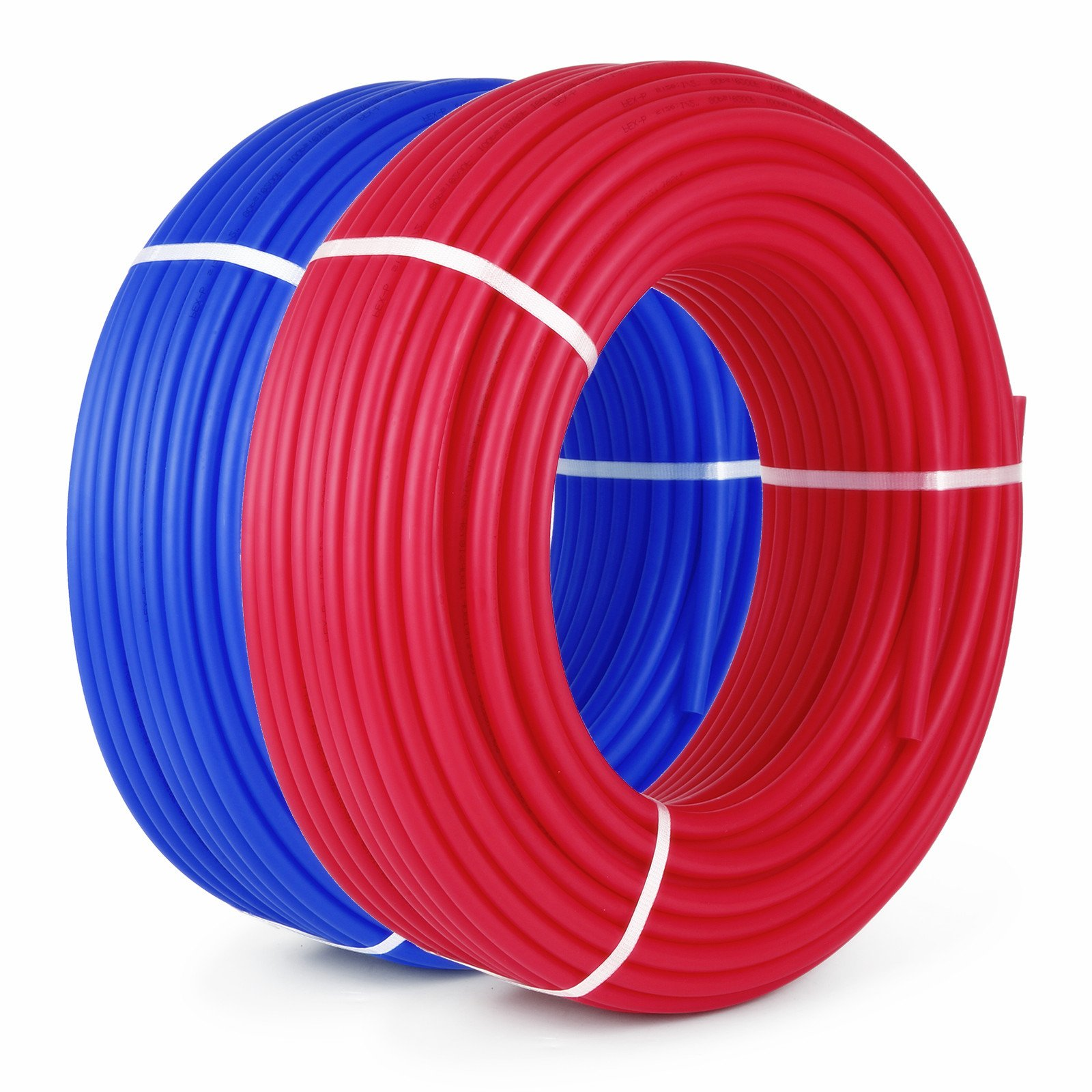 Popsport PEX Tubing 1/2 Inch PEX Potable Water Pipe 2 Rolls 300FT Non-Barrier Pex Tubing for Residential and Light Commercial Hot and Cold Water Plumbing Applications (2X300FT) by Popsport