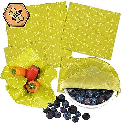 Reusey Beeswax Wrap Set - Reusable Food Wrap - Eco Friendly Plastic Wrap  Alternative (Set of 4)