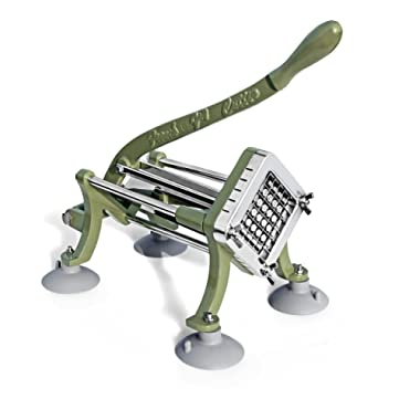 New Star Foodservice 42313 Commercial Grade French Fry Cutter with Suction Feet, 1/2-Inch