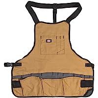 Dickies 57027 Grey/Tan 16-Pocket Bib Apron