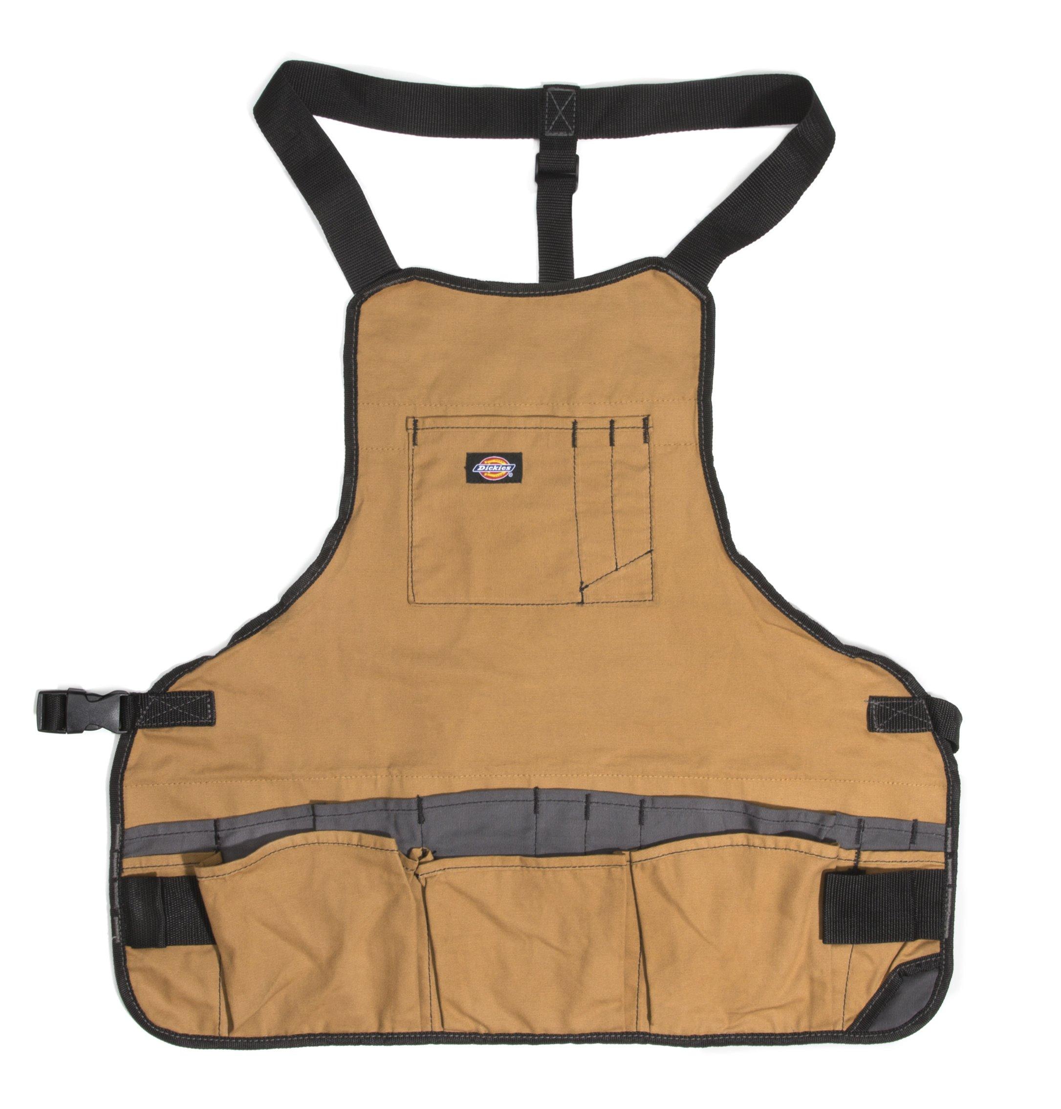 Dickies Work Gear 57027 Grey/Tan 16-Pocket Bib Apron by Dickies Work Gear