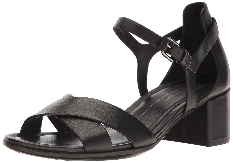 Black ECCO shoes Womens Shape 35 Sandal - Crisscross Strap Heeled Sandal