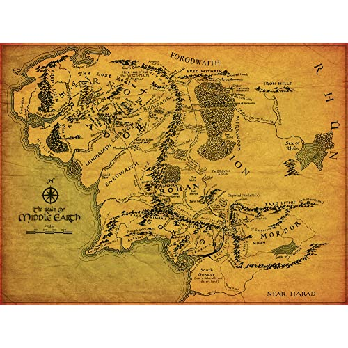 Middle Earth Map: Amazon.co.uk