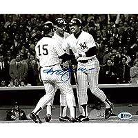 $39 » Reggie Jackson Autographed 8x10 Photo New York Yankees Home Run Beckett BAS Stock #177601