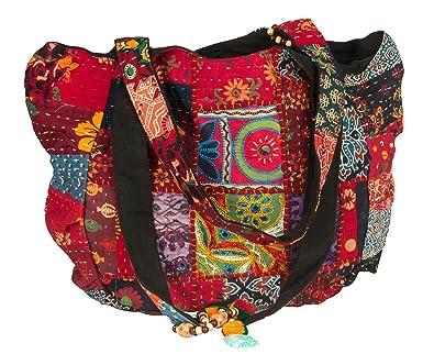5548bf13eb Tribe Azure Rouge Coloré Grand Femme Sac épaule Cabas Courses Ecole Pc  portable Quotidien Casual Bohème