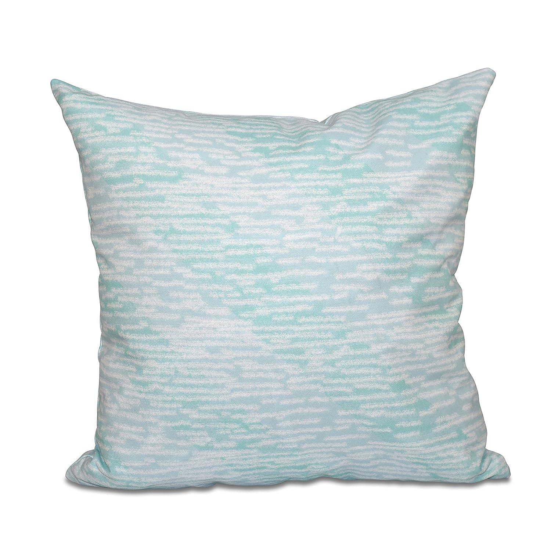 Marled Knit Stripe Geometric Print 16x16 Blue E by design PGN478BL41-16 16 x 16 inch