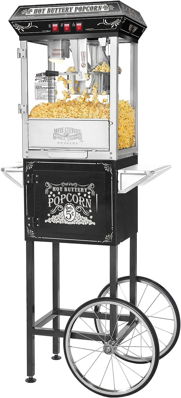 5810 Great Northern Black Good Time 8oz Full Popcorn Popper Machine w// Cart 8 Ounce