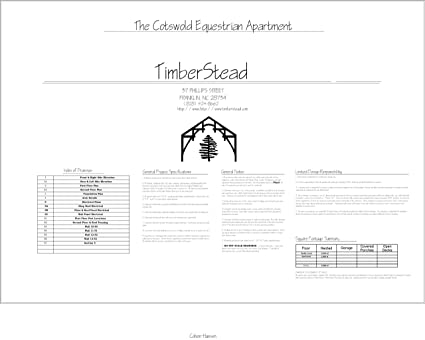 Amazon.com: Timber Frame Barn Plan - Cotswold Stable Apartment ...