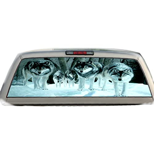 745346c3a693bf Military Rear Window Graphics RWG1795  separation shoes b9b3e afd13 Snowy  Wolves- 17 Inches-by-56 Inches Compact Pickup ...