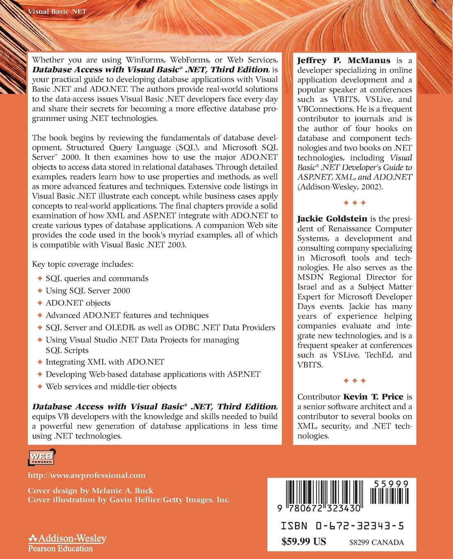Buy Database Access with Visual Basic  NET (kaleidoscope