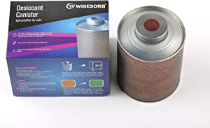 Wisesorb 750 Gram Silica Gel Canister Dehumidifier - Moisture Indicating Desiccant for Gun Cabinets,Tool Boxes, Safes, Laptop Case, Closets, Storage Bins, Shoe Cabinets, Boats