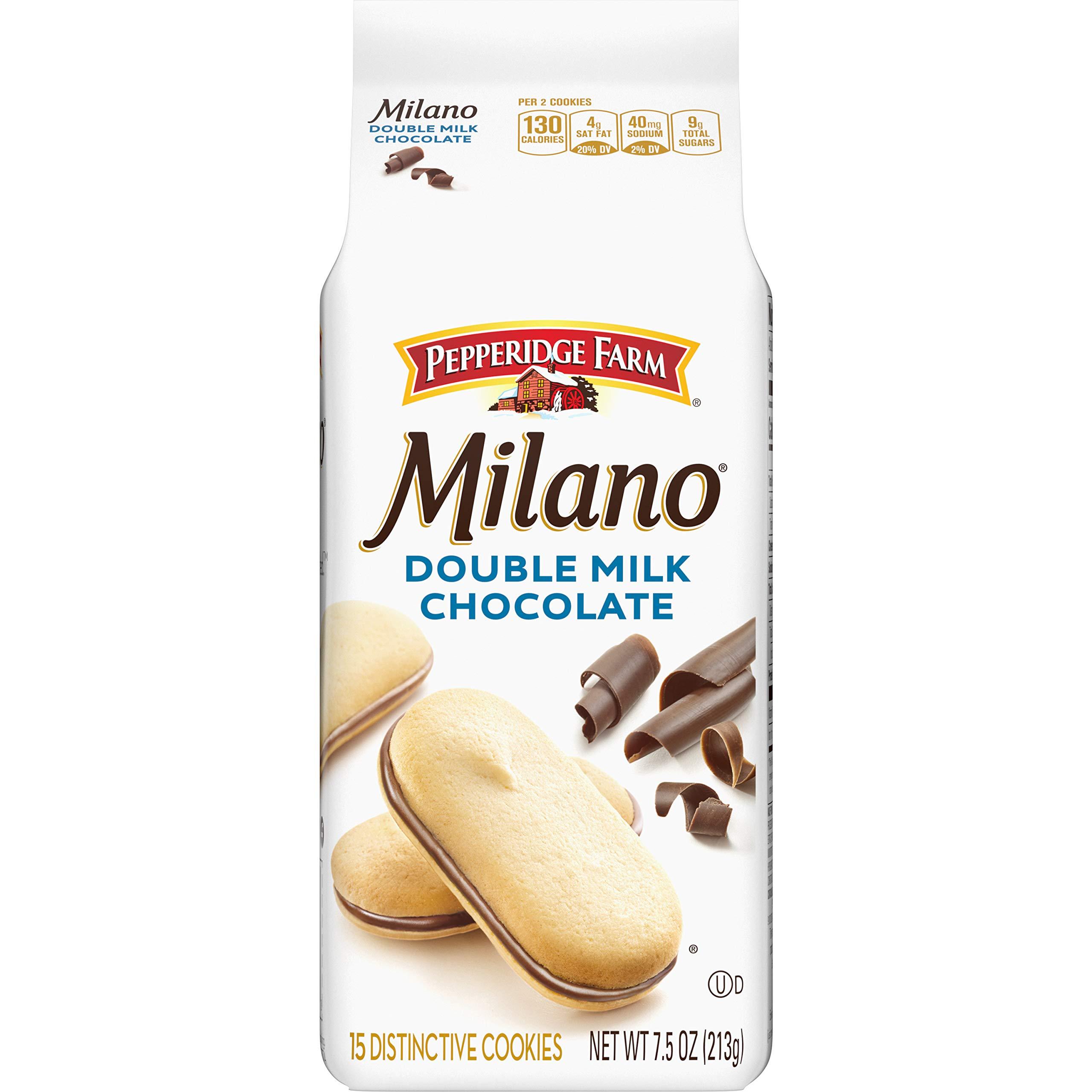 Pepperidge Farm Milano Cookies, Double Milk Chocolate, 7.5 oz. Bag