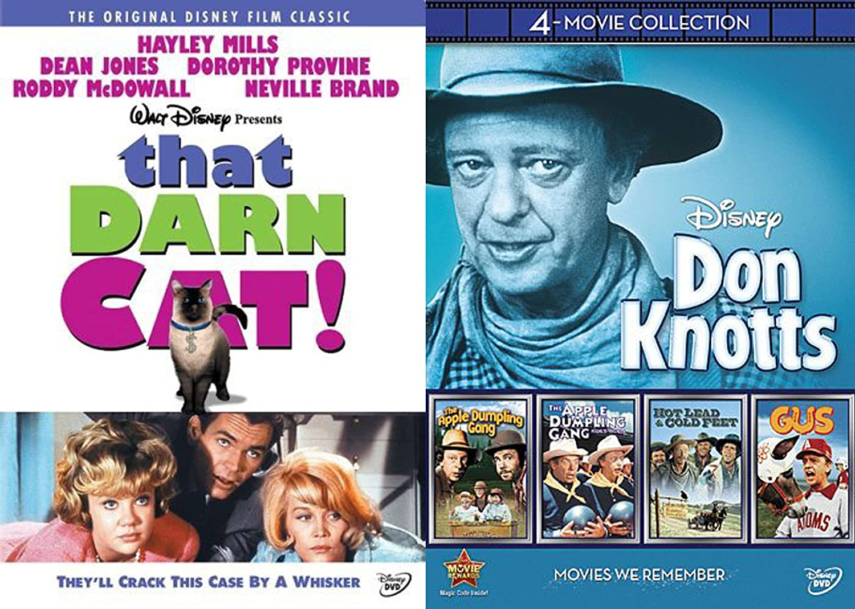 Retro Disney 60's Family Classics - That Darn Cat, The Apple Dumpling Gang + Rides Again, Hot Lead & Cold Feet, Gus Don Knotts 5-DVD Bundle